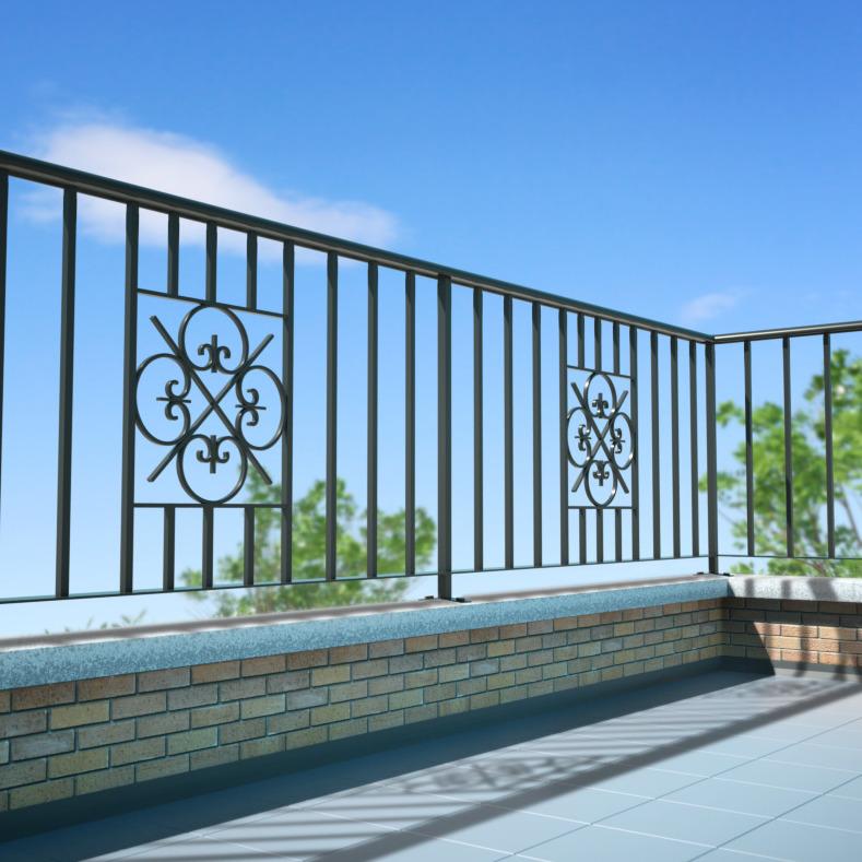 Wrought iron railings in london titan forge ltd for Terrace railing