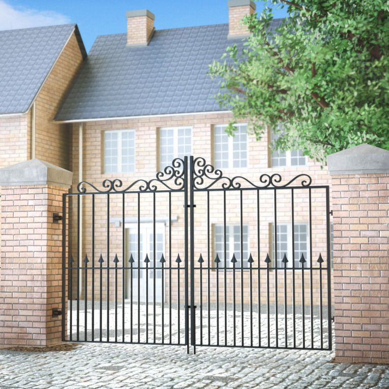 Wrought iron gates